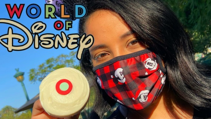 four NEW CHRISTMAS FACE MASKS AT WORLD OF DISNEY & SPRINKLES CUPCAKES AT DOWNTOWN DISNEY!