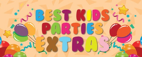 best kids parties with balloons on an orange background