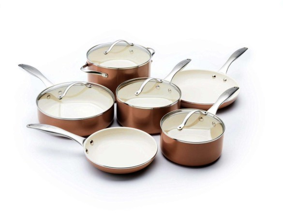 copper saucepan set