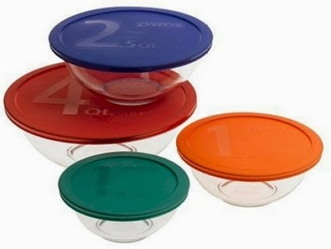 pyrex bowls with lids