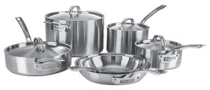 Viking Culinary Professional 5-Ply 10 Piece Stainless Steel Cookware Set