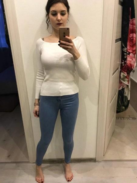 Basic Women Sweater Neckline Strapless Sweater
