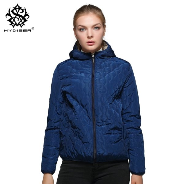 Artificial Fleece Inside Hooded Short Winter Coats