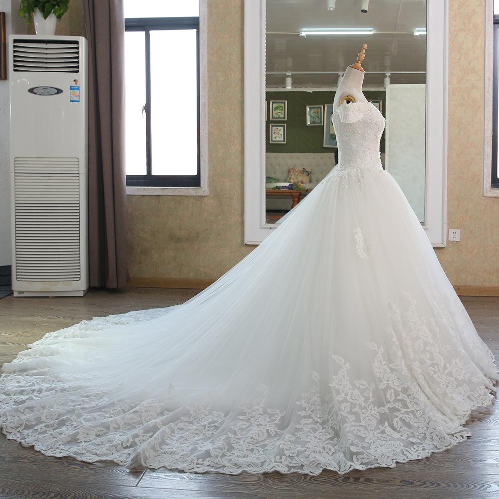 Ball Gown Bridal Dresses Muslim Lace Wedding Dress