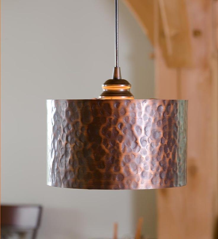 Hammered Copper Lighting Fixtures