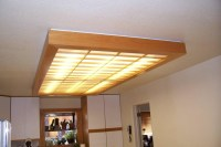 Wooden Fluorescent Light Fixture | Light Fixtures Design Ideas