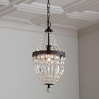 Bronze Mini Chandelier With Crystals | Light Fixtures ...