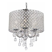 Chandelier With Drum Shade And Crystals | Light Fixtures ...