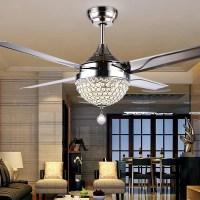 Crystal Chandelier Ceiling Fan | Light Fixtures Design Ideas