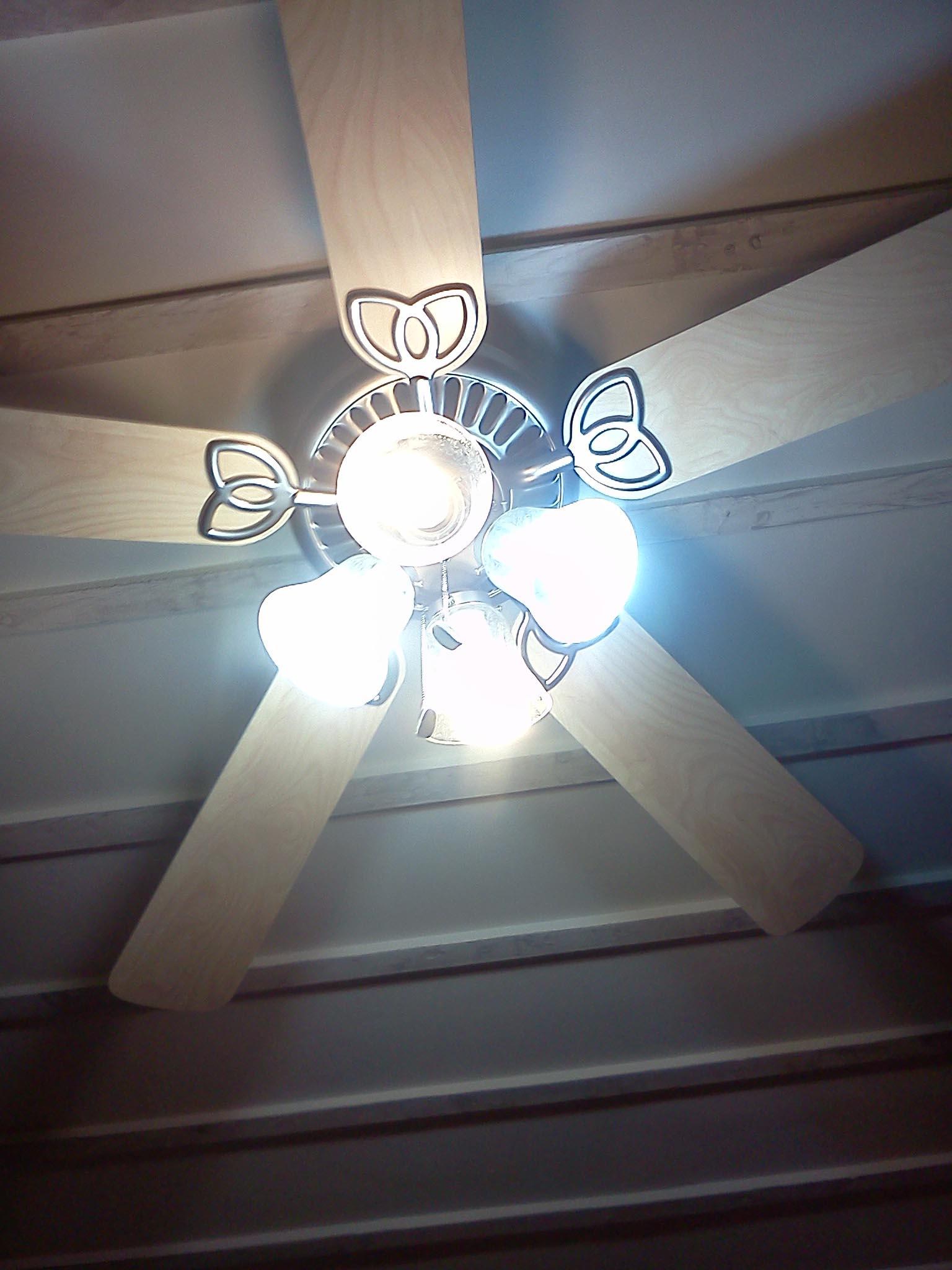 DIY Ceiling Fan Chandelier
