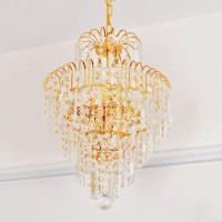 DIY Crystal Ball Chandelier | Light Fixtures Design Ideas