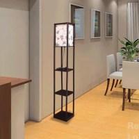 DIY Floor Lamp With Shelves | Light Fixtures Design Ideas