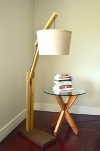 DIY Wood Floor Lamp | Light Fixtures Design Ideas