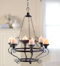 Electric Pillar Candle Chandelier   Light Fixtures Design ...