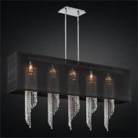 Rectangular Crystal Chandelier With Shade | Light Fixtures ...
