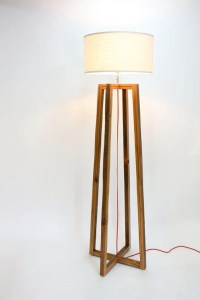Rustic Wood Floor Lamp | Light Fixtures Design Ideas