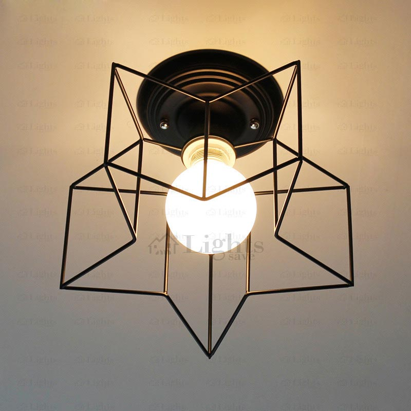 Star Shaped Flush Mount Ceiling Light