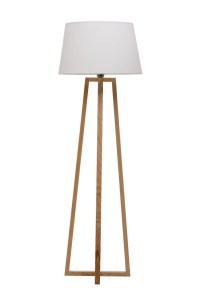 White Wooden Floor Lamp Base | Light Fixtures Design Ideas