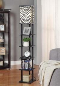 Wooden Floor Lamp With Shelves | Light Fixtures Design Ideas
