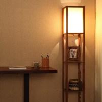 Wooden Floor Lamps With Shelves | Light Fixtures Design Ideas