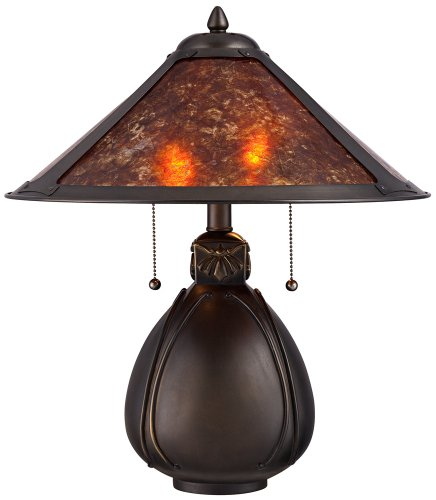 Nell Arts and Craft Pottery Mica Shade Table Lamp  Best