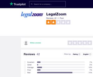 Legalzoom Trust Pilot Reviews