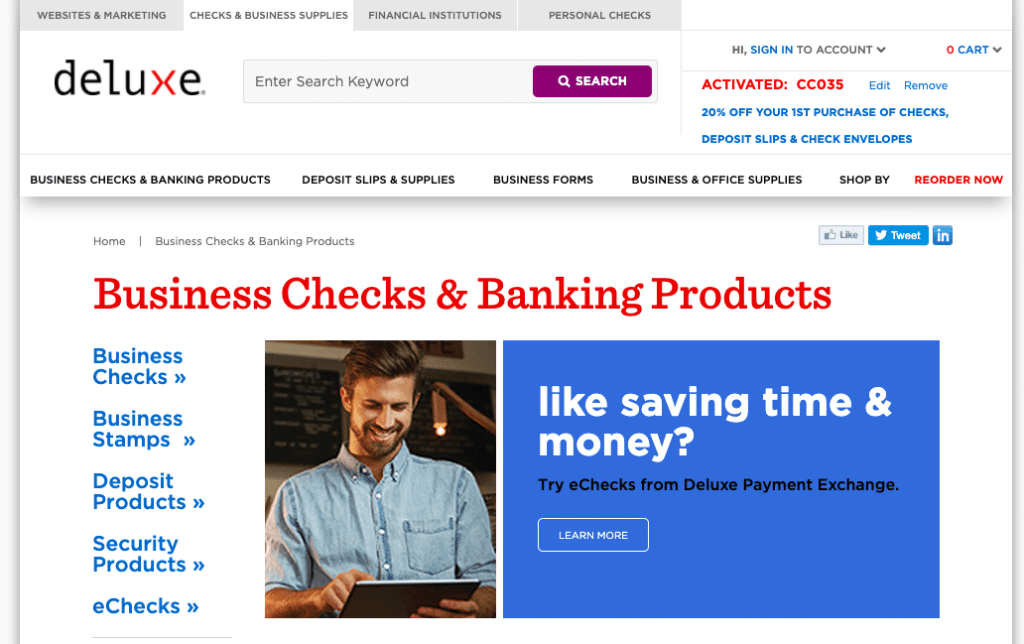 Deluxe business checks website