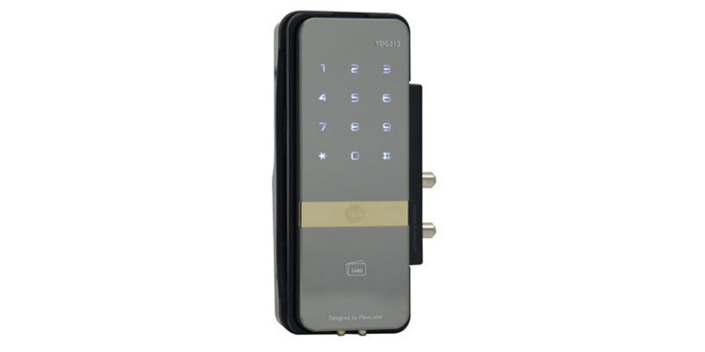 YDG313 - Proximity Card Key / Remote Control / Keypad Digital Door Lock For Glass Doors (Rim Lock)