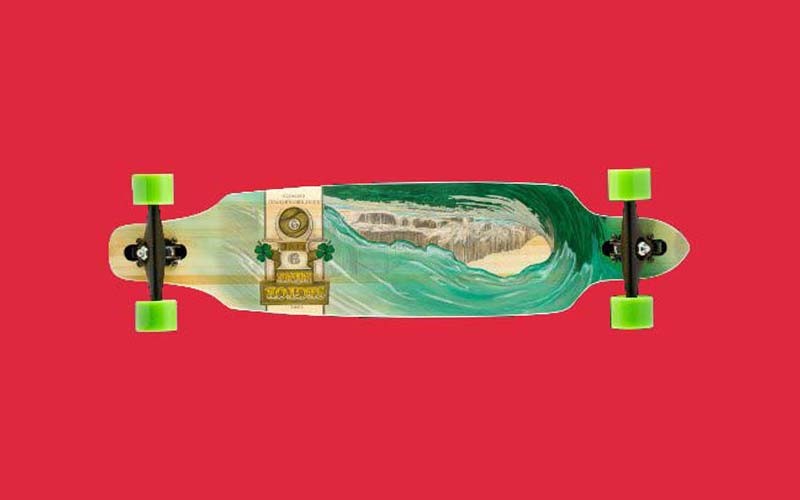Sector 9 Drop Thru Bamboo Lookout II Green Wave Skateboard Review