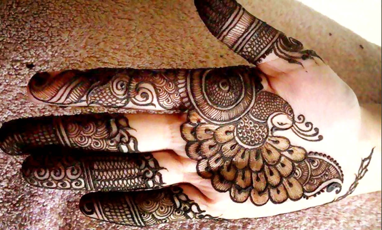 Mehndi Design Peacock Simple