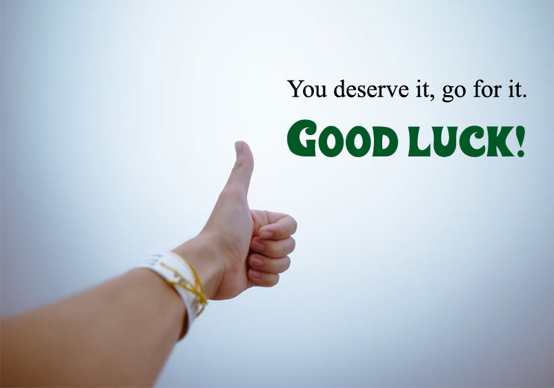thumb good luck photos quote - Good Luck Quotes