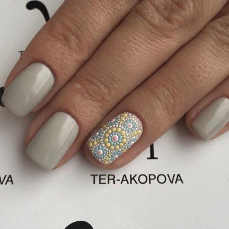 точечный дизайн ногтей 3