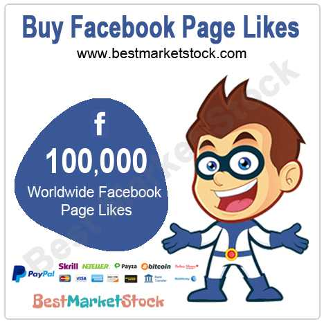 100,000 Worldwide Facebook Fan Page Likes