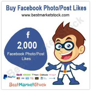 2000 Facebook Photo Post Likes