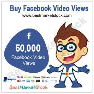 50000 Facebook Video Views
