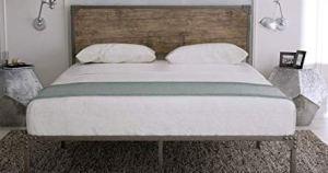 Urest industrial style platform bed