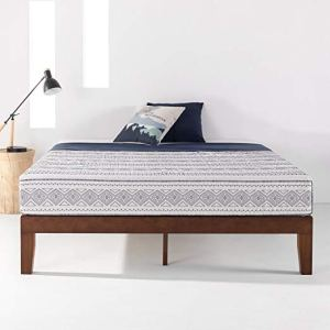 Mellow 12-Inch Classic Solid Wood Platform Bed Frame