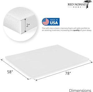 Red Nomad 3-Inch Ultra Premium Visco Elastic Memory Foam Mattress Pad