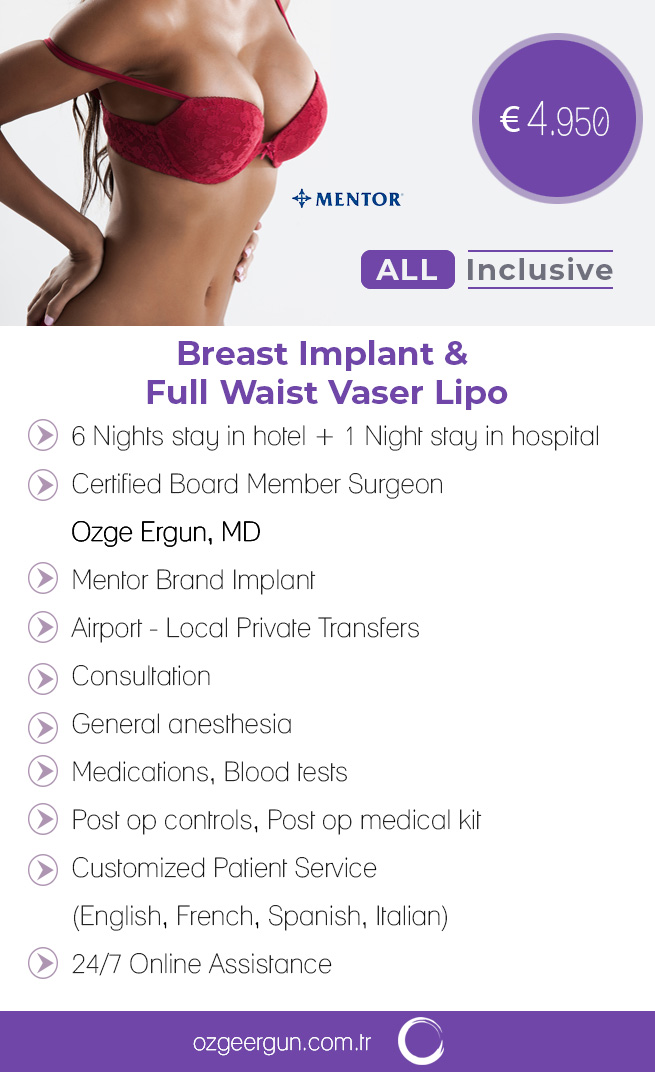 BreastImplant & VaserLiposuction All Inclusive Pack