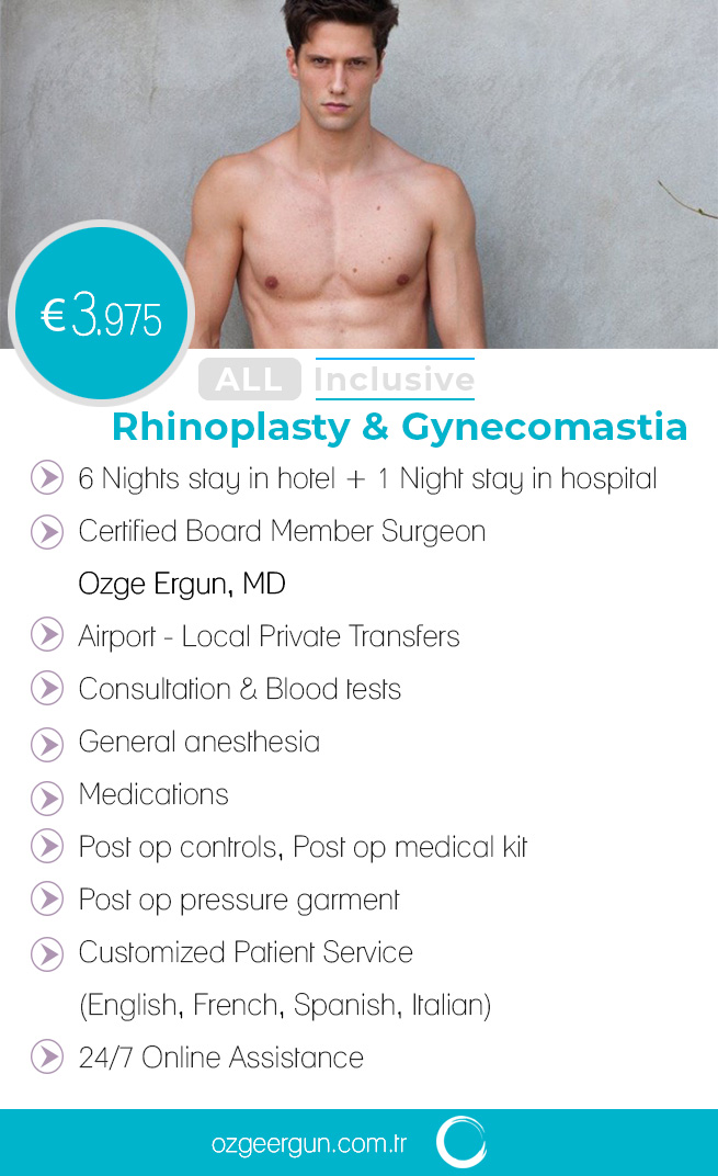 Rhinoplasty & Gynecomastia All Inclusive Package