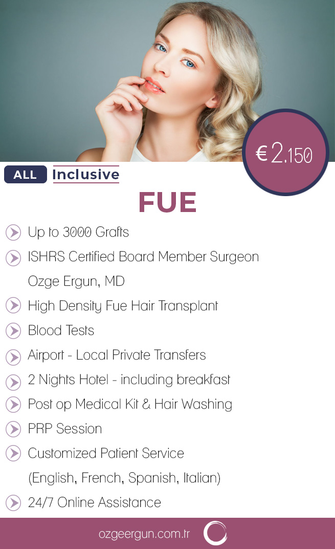 Hair Transplant Woman All Inclusive