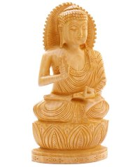 Wooden Teaching Buddha Statue - Best Meditation Chairs