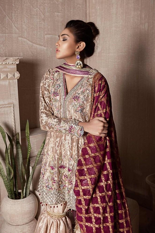 Designer Pakistani Mehndi Dresses by Sana Abbas Collection