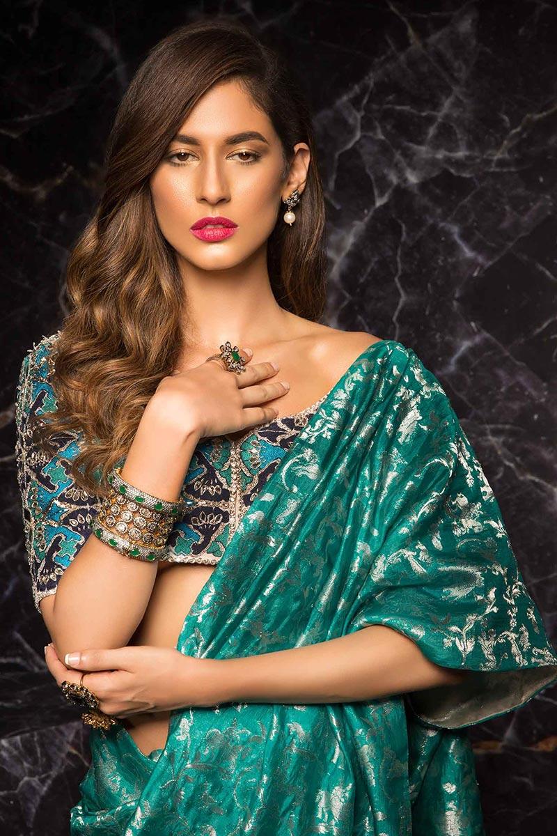 Mehendi Saree for Indian Wedding