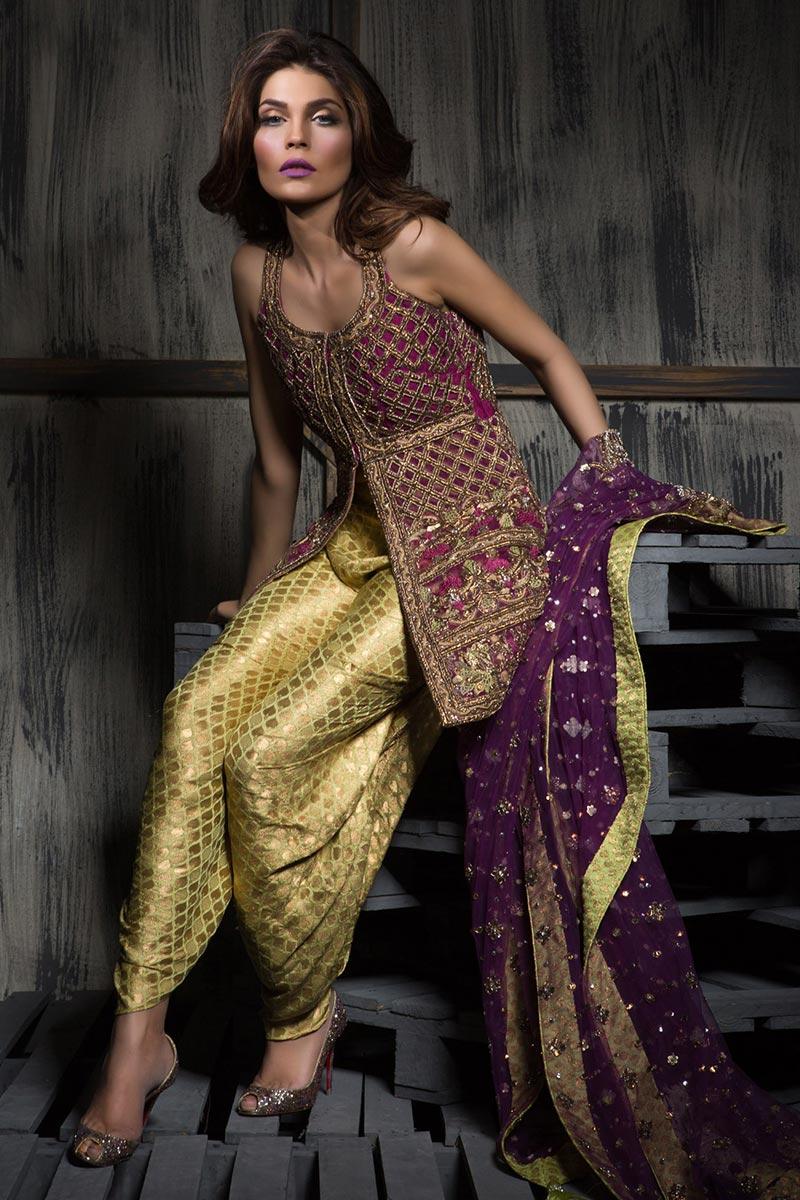 multi color mehendi outfit
