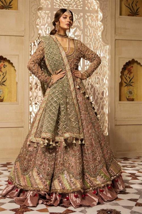 Maria B Bridal Mehndi Dress