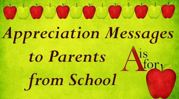 Appreciation Messages To Parents From School