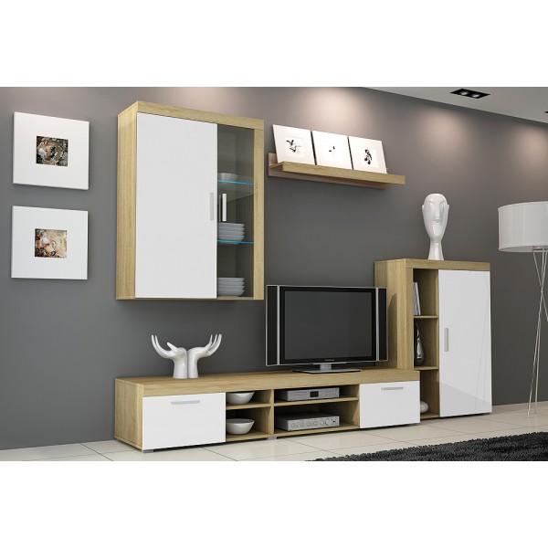 Wandmeubel  Tvwandmeubel TONI 4  LED Verlichting Tv
