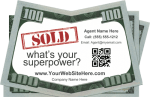 Real Estate Drop Card Idea - Sold Superpower