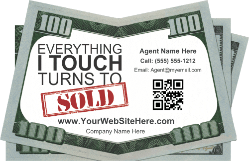 Real Estate Drop Card Idea - Turn to Sold